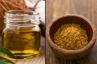 Coconut oil and fenugreek seeds for hair fall