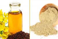 Mustard oil and honey for hair fall